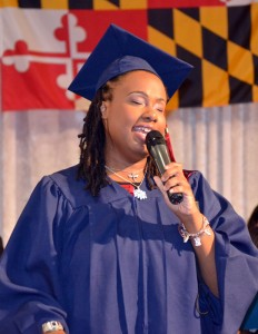 MSB female graduate gives valedictorian speech
