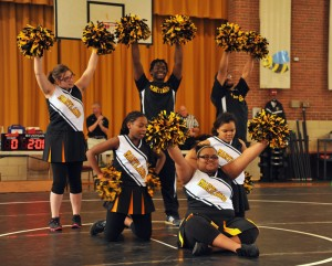 MSB Athletics Cheering Squad in Formation