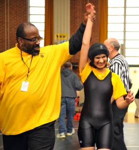 MSB Athletics Girl Wins Wrestling Match