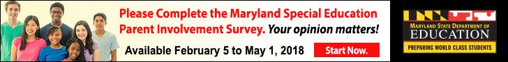 MSDE Parent Survey Banner