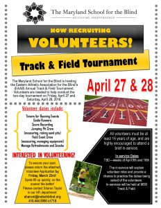 Track & Field Volunteer Flyer