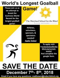 Goalball Guinness Record Save the Date