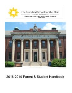 2018 - 2019 Parent & Student Handbook Graphic
