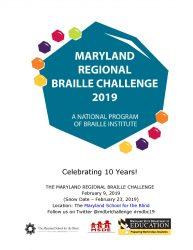 2019 MD Braille Challenge Flyer